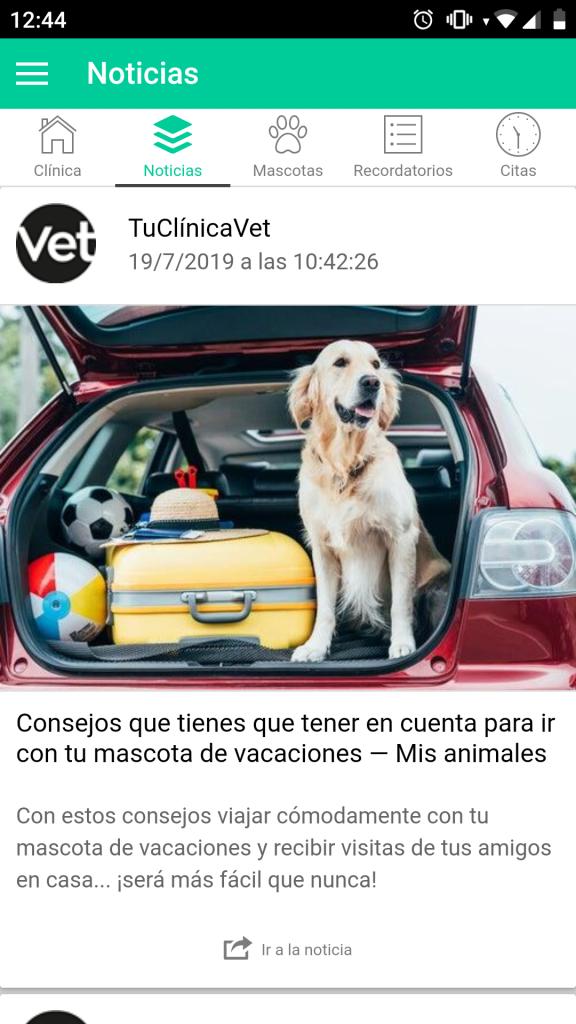 Imagen app veterinaria TuClínicaVet