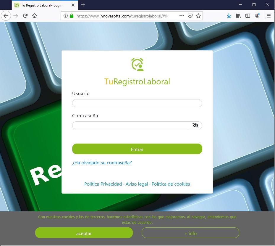 login turegistrolaboral web